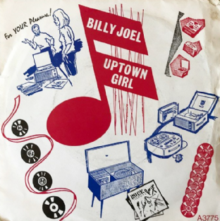 "Billy Joel ‎- Uptown Girl (7"") (VG/G+) (2)"